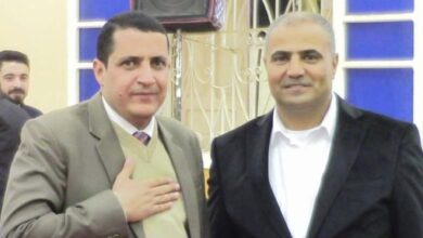صورة عزاء واجب للدكتور عز الدين عبدالمقصود والمحاسب عثمان كلوب