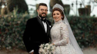 """صورة """"صور"""" بعد ان خطفت مديحة  قلب محمد غازي هلال ..تتويج قصة الحب بالزفاف  السعيد في حفل اسطوري"""