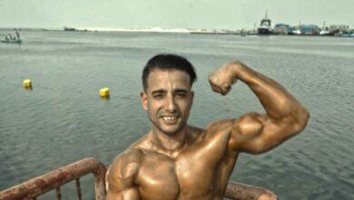 صورة اللاعب عمرو الشحات يحصل على المركز الرابع في بطولة الجمهورية لكمال الأجسام